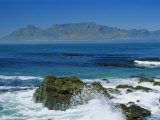 Table Mountain Viewed from Robben Island, Cape Town, South Africa Photographic Print by Amanda Hall