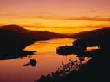 Queen's View at Sunset, Pitlochry, Tayside, Scotland, UK, Europe Fotografisk tryk af Roy Rainford