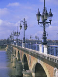 Pont De Pierre, Bordeaux, Gironde, France, Europe Photographic Print by Firecrest Pictures