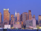 The Chrysler Building and the Manhattan Skyline Seen from New Jersey, New York, USA Photographic Print by I Vanderharst