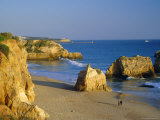Praia De Rocha, Western Algarve, Portugal, Europe Photographic Print by Amanda Hall