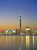 City Skyline Including Cn Tower in the Evening, Toronto, Ontario, Canada Photographic Print by Roy Rainford