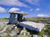 Poulnabrone Dolmen, Ancient Tomb, the Burren, County Clare, Munster, Republic of Ireland (Eire) Photographic Print by Roy Rainford