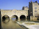 Pulteney Bridge and Weir on the River Avon, Bath, Avon, England, UK Photographic Print by Roy Rainford