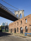 Derelict Warehouses Under Brooklyn Bridge, Brooklyn, New York City, New York, USA Photographic Print by Amanda Hall