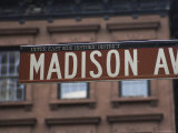 Madison Avenue Street Sign, Upper East Side, Manhattan, New York City, New York, USA Photographic Print by Amanda Hall