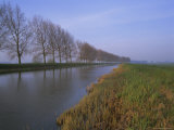Tree-Lined Canal, Holland (The Netherlands), Europe Fotografie-Druck von I Vanderharst