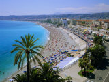 Promenade Des Anglais, Nice, Cote d'Azur, Alpes-Maritimes, Provence, France, Europe Fotografisk tryk af Roy Rainford
