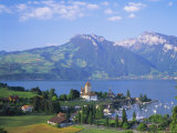 Spiez, Lake Thun (Thunersee), Jungfrau Region, Bernese Oberland, Switzerland, Europe Photographic Print by Roy Rainford