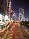 Gloucester Road at Night, Causeway Bay, Hong Kong Island, Hong Kong, China, Asia Photographic Print by Amanda Hall