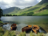 Boats on the Lake, Buttermere, Lake District National Park, Cumbria, England, UK Photographic Print by Roy Rainford