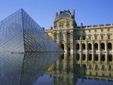 Palais Du Louvre and Pyramid, Paris, France, Europe Photographic Print by Roy Rainford