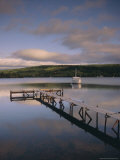 Boat and Jetty, Nova Scotia, Canada, North America Photographic Print by Firecrest Pictures