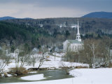 Winter in Stowe, Vermont USA Photographic Print by Amanda Hall
