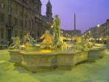 Fountain, Piazza Navona, Rome, Lazio, Italy, Europe Photographic Print by Roy Rainford