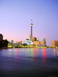 The Cn Tower Rises Above the City Skyline at Dusk, Toronto, Ontario, Canada Photographic Print by Roy Rainford