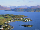 Plockton and Loch Carron, Highlands Region, Scotland, UK, Europe Fotografisk trykk av Roy Rainford