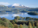 Derwent Water, with Blencathra Behind, Lake District, Cumbria, England, UK Fotografisk tryk af Roy Rainford