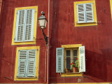 Shuttered Windows in the Old Town, Nice, Provence, France Fotodruck von I Vanderharst
