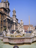 Fountain and Obelisk in the Piazza Navona in Rome, Lazio, Italy Photographic Print by Roy Rainford
