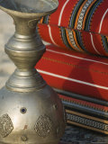 Arabic Cushions and Pot, Dubai, United Arab Emirates, Middle East Photographic Print by Amanda Hall