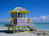 Lifeguard Station, South Beach, Miami Beach, Florida, USA Photographic Print by Amanda Hall