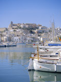 Ibiza Town and Harbour, Ibiza, Balearic Islands, Spain, Europe Photographic Print by Firecrest Pictures