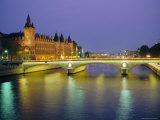 Palais De Justice and the River Seine in the Evening, Paris, France, Europe Photographic Print by Roy Rainford
