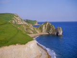 Durdle Door, an Arch of Purbeck Limestone on the Coast, Dorset, England, UK Photographic Print by Firecrest Pictures