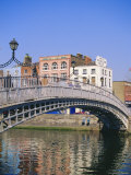 Halfpenny Bridge and River Liffey, Dublin, Ireland/Eire Photographic Print by Firecrest Pictures