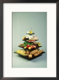 USDA Food Pyramid Accuratly Shows Amounts of Each Food Group to Eat Framed Photographic Print by David M. Dennis