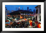 Chinatown District at Dusk, Singapore, Singapore Framed Photographic Print by Michael Coyne