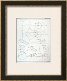 Plate XX from Volume I of &quot;The Mathematical Principles of Natural Philosophy&quot; by Sir Isaac Newton Framed Giclee Print