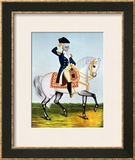 General Washington (1732-99) on a White Charger, circa 1835 Framed Giclee Print
