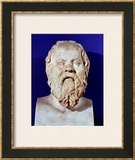 Bust of Socrates (470-399 BC) Framed Giclee Print