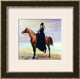 Equestrian Portrait of Mademoiselle Croizette, 1873 Framed Giclee Print by Charles Émile Carolus-Duran