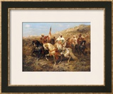 A Regal Procession Framed Giclee Print by Adolph Schreyer