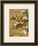 Pear Blossom and Moon Framed Giclee Print by Yun Shouping
