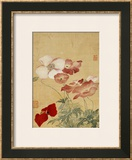 Poppies Framed Giclee Print by Yun Shouping