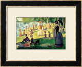 A Sunday on La Grande Jatte 1884, 1884-86 Framed Giclee Print by Georges Seurat