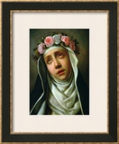 St. Rose of Lima Framed Giclee Print by Carlo Dolci