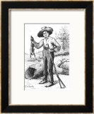 "Frontispiece to ""The Adventures of Huckleberry Finn,"" by Mark Twain 1884 Framed Giclee Print by Edward Windsor Kemble"