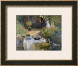 The Luncheon: Monet&#39;s Garden at Argenteuil, circa 1873 Framed Giclee Print by Claude Monet