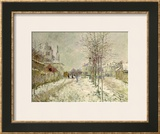 Snow Effect Framed Giclee Print by Claude Monet