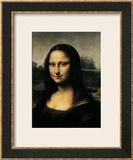 Mona Lisa, c.1507 (detail) Framed Giclee Print by  Leonardo da Vinci