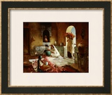 Gathering of Roses Framed Giclee Print by Rudolph Ernst