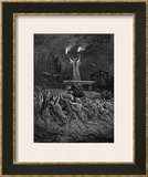Horned Devil Presides Over the Sabbat Framed Giclee Print by Emile Bayard
