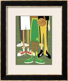 Close-Up of Children's Legs with Basketball Framed Giclee Print