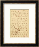 The Progress of Evolution from Amoebas to You and Me as Displayed by the Fossil Record Framed Giclee Print by A. Dusmenil