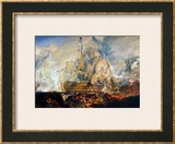 Battle of Trafalgar, 21 October 1805 Framed Giclee Print by J. M. W. Turner